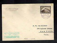 1931 Germany Graf Zeppelin Cover to New York City USA LZ 127 3rd SAF Brazil