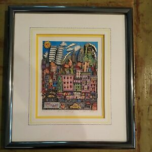 """Charles Fazzino """"NY is Crackin Up"""" 3D Signed, Numbered 47/475, Authenticity Cert"""