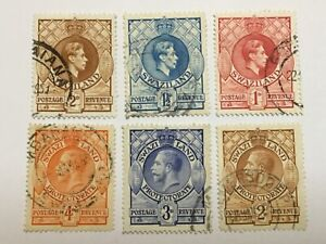 old stamps  SWAZILAND     x  6