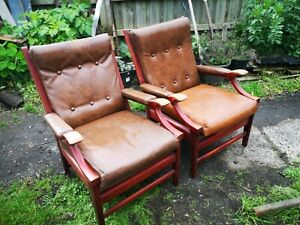 Pair Of Cintique Mid-century Chairs