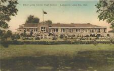 LAKEPORT, California  CA  Handcolored  CLEAR LAKE UNION HIGH SCHOOL   Postcard