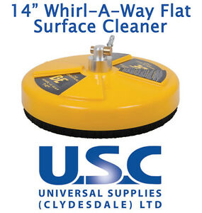 """BE Whirlaway 14"""" Rotary Flat Surface Cleaner Pressure Washer Power Patio Jetwash"""