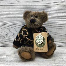 "Boyd's Bears & Friends Calvin Bear with Black Sweater Plush 8"""