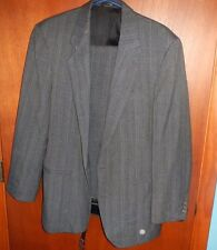 GALLERY BY HAGGAR MEN'S GRAY MULTI STRIPED SUIT SIZE 38R PANTS 30/31 CAREER