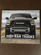 2017 Dodge Ram Trucks 1500 2500 3500 6-page Small Original Sales Brochure