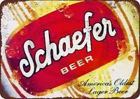 """Schaefer Beer lager Vintage Retro Metal Sign 8"""" x 12"""""""