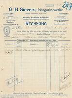 PA0011. G. H. SIEVERS, Braunschweig, Margarine-Fabrik. Rechnung vom 09.06.1908