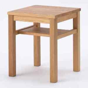 MUJI solid wood side table bench board seat oak wood plate From Japan [New]