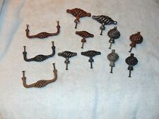 12 Misc Ornate Steel Drawer door cupboard Bin handles pulls