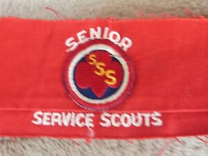 VINTAGE WWII Girl Scout Senior Service Armband & Badge Civil Defense Uniform SSS