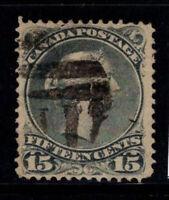 Kanada 1868 Mi. 24 Gestempelt 100% 15 C, Königin Victoria