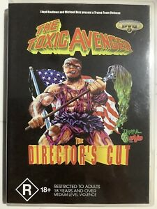 THE TOXIC AVENGER - DVD Region 4 - Director's Cut LIKE NEW CONDITION