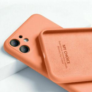 Soft Case For iPhone 13 Pro Max 12 11 XS XR 7 8 Plus SE 2 Liquid Silicone Cover