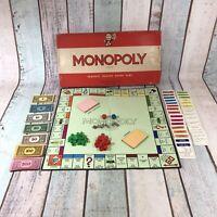 Waddingtons Monopoly 1960's - The Original Vintage Board Game Plastic Houses