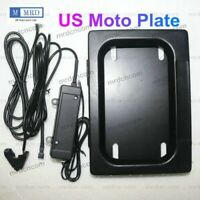 USA Motocycle Hide-Away Shutter License Plate Frame Device Stealth w/ Remote New