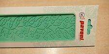 SILICONE MAT MOULD FOR CREATING EDIBLE SUGAR CAKE DECORATING LACE leaf design