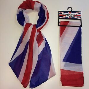 UNION JACK FLAG SCARF, UNISEX, GREAT FOR SPORTS EVENT, COME ON TEAM GB
