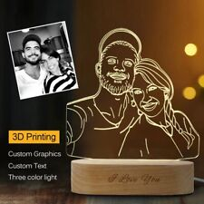 Customized 3D Lamp With Printed Photo and Text Night Light Gift Christmas