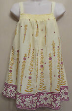 White Stuff UK12 EU40 US8 100% cotton yellow top with smocked detail