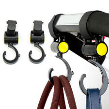 2Pcs Baby Carriage Storage Bag Hooks Pram Stroller Hanger Pushchair Swivel Hooks