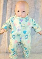 "Doll Clothes Baby Made 2 Fit American Girl 15"" inch Bitty Pajamas Bears Hearts"