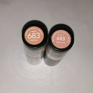 3 tube lot Revlon Super Lustrous Lipstick 683 DEMURE creme SEALED