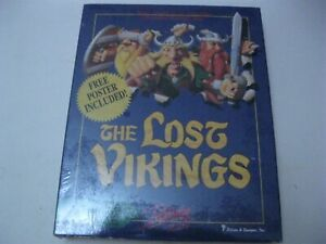 """The Lost Vikings new sealed PC game 3.5"""" disks Interplay 1993"""