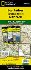 National Geographic Trails Illustrated CA Los Padres Nat Forest Map Pack Bundle