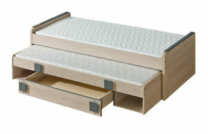 Double Bed Kid's Bed Teen Bed+ Bed Box Bed Oak 2 X Beds Loft