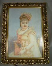 Large Antique French Painting On Porcelain Plaque Artist Signed