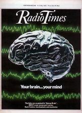RADIO TIMES 8 MAY 1982 . HUMAN BRAIN COVER