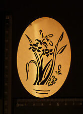 Brass/stencil/Oval/floral/flowers/Leaf/Spring/Summer/Emboss
