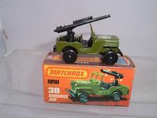 Matchbox Lesney Superfast NO38 gepanzerter Jeep & Kanone mit ihrer K Feld Typ C Pics