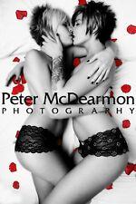 "TWO LESBIAN GIRLS KISSING POSTER PRINT ""ROSE PETALS"""