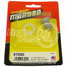 CHROME OIL PAN SUMP DRAIN PLUG REPLACEMENT MAGNETIC TIP MOROSO 97000