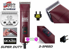 Andis AGC SUPER DUTY  2-Speed Clipper&UltraEdge 10 Blade 220 V 230 Volt*Grooming