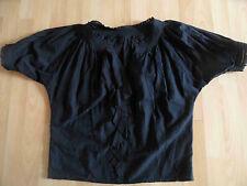 DIANE VON FÜRSTENBERG schöne leichte weite Bluse schwarz Gr. 36  GS