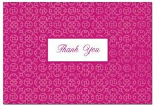 Fuchsia Hot Pink Damask Wedding Bridal Shower Thank You Notes 50/pk