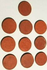 5 Fen China Manchukuo Red Fiber 10 Coin Lot Japanese puppet state Manchukuo (#B)