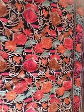 Indian Kashmir Kashmiri Handmade Pashmina Cashmere Shawl Stole Embroidery Scarf