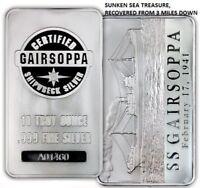 10 oz .999 silver gairsoppa WW2 ship wreck treasure recovered after 70yr ART BAR
