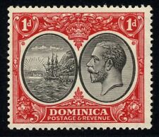 Dominica SG 73 Cat £17 Never Hinged MNH 1d Black & Scarlet
