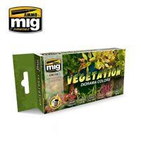Ammo by Mig Acrylic Paint Set - Vegetation Diorama Colours (A.MIG-7176)
