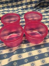 Tupperware Serving Center Bowls Set of 4 Bright Pink 14 Ounce