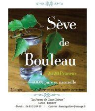 """1 Cure """"DETOX"""" de Sève de Bouleau """"Fraîche"""" 2020 Primeur - 3 litres"""