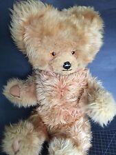 "Vintage English Growler Teddy Bear Bell & Bell 24"" Shearling Amber Eyes Plush"