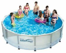 """Outofstock Summer Waves 14 ft x 42""""Elite Frame Pool,Filter Pump Cover Ladder Dm"""