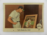 Vintage 1959 Fleer Ted Williams Ted's Goals Baseball Card Trading #80