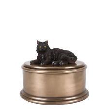 Perfect Memorials Hand Painted Black Cat Figurine Cremation Urn
