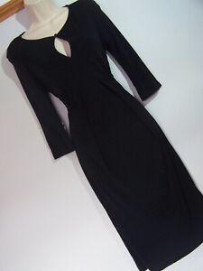 **HOBBS** Sz 14 Black A Line Dress